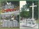 Przyszowice cmentarz, Krzyż centralny z ołatarzem, Stary pomnik na zbiorowej mogile mieszkńców Przyszowic pomordowanych przez sowietów 27 stycznia 1945, Nowa tablica na mogile zbiorowej.