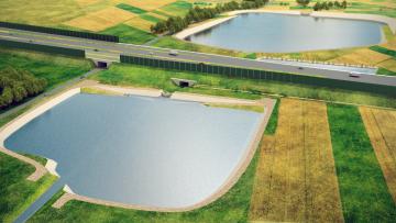 symylacja napełnionych suchych  zbiorników na potoku Cieńka przy A1.png